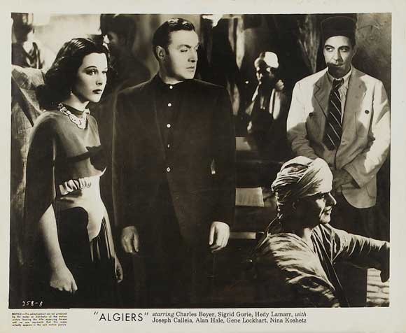 Hedy Lamarr goes slumming with Charles Boyer in the Casbah.