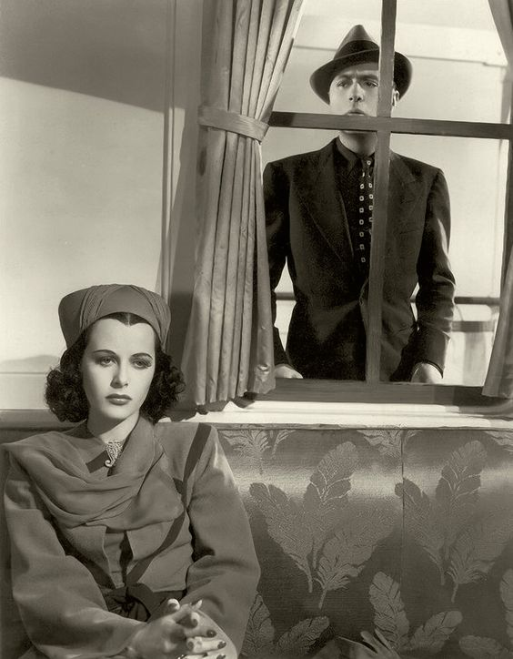 Charles Boyer longs for Paris – er, Lamarr. Image: Pinterest