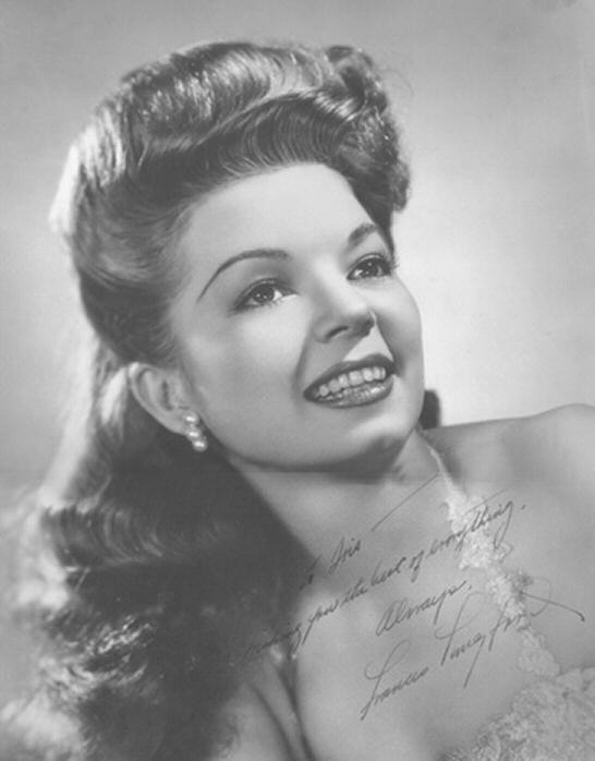 Frances Langford and her voluminous locks look for a break on Broadway.  -Image borrowed from Songbook