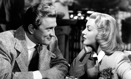 Kirk Douglas is pleased with Lana Turner's performance - for now. Image: The Guardian