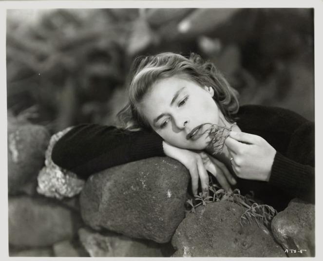 Ingrid Berman smells some leaves. Image: jdf