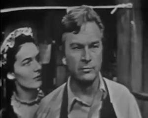 Marian Seldes convinces Eddie Albert to stand up for the truth. Image: djfslkdj