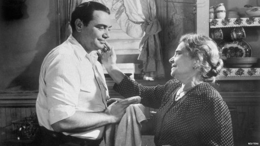 Marty (Ernest Borgnine) listens as his mother asks - AGAIN - when he's getting married. Image: bbc.co.uk