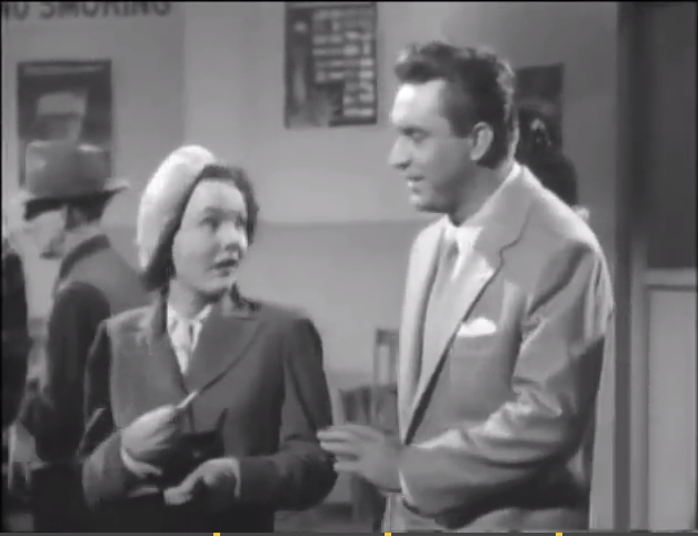 Wanda Hendrix (left) tries to tell Edmond O'Brien to get lost.