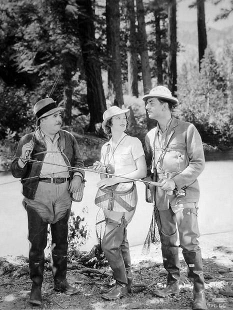 William Powell (right) is confident in his fake-fishing skills. Image: A Certain Cinema
