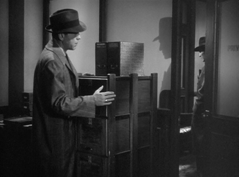 Bogart sneaks around corners in search of Answers. Image: kdjf