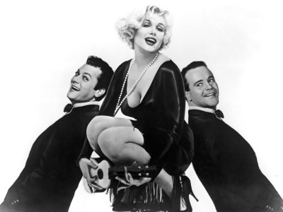 SOME LIKE IT HOT, Tony Curtis, Marilyn Monroe, Jack Lemmon, 1959