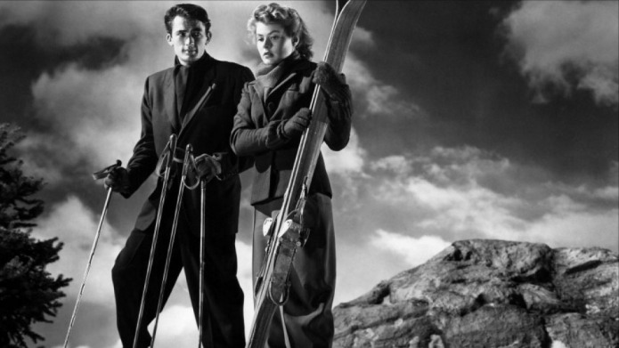 Silly Ingrid trusts Peck enough to go skiing with him near perilous cliffs. Image: lsdkjf