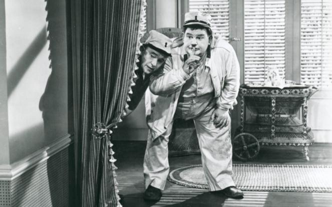 Laurel and Hardy alskdj flkasdjf dskf Image: laksdjf