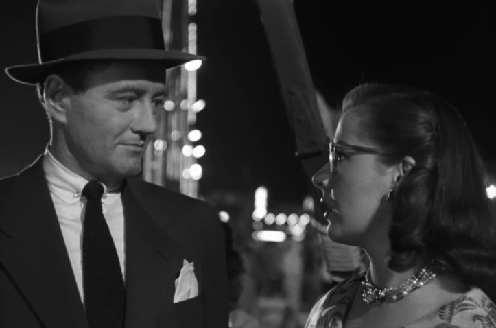 Robert Walker (left) flirts with wayward Laura Elliott. Image: