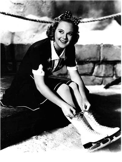 Sonja Henie straps on the blades to catch her man. Image: dkjf dkfj