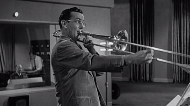 Glenn Miller and his orchestra audition for a gig in Sun Valley. Image: YouTube