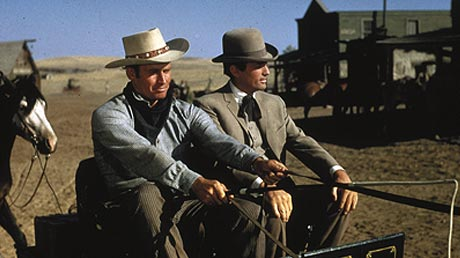 Charlton Heston (left) is stuck giving a ride to Gregory Peck. Image: lsdkjf d