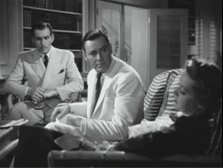 Davis calmly tells James Stephenson (left) to open the letter.