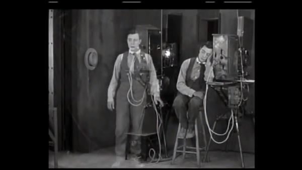 Buster Keaton in 1924s Sherlock Jr