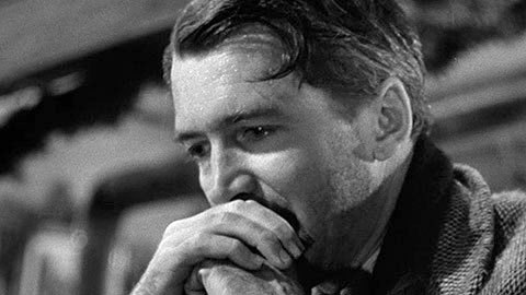 George Bailey (James Stewart) faces time in prison. Image: