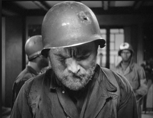 Gene Evans in The Steel Helmet (1957). Image: The End of Cinema