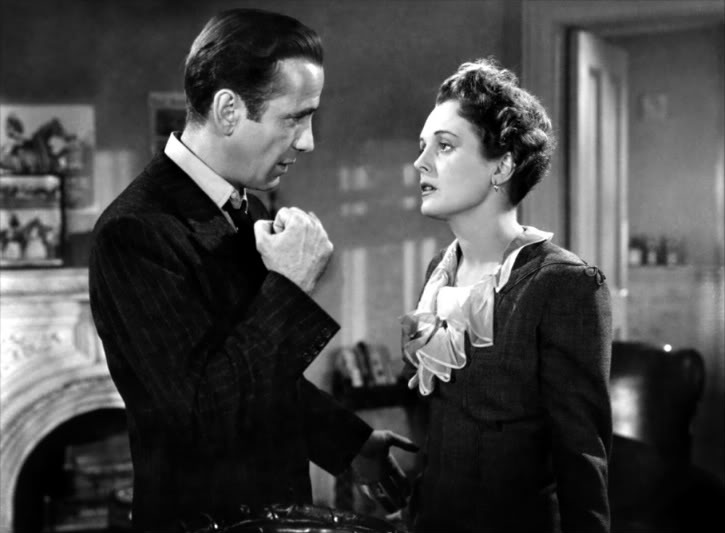 Bogart has had it Up To Here with Mary Astor. Image: One Geek's Mind