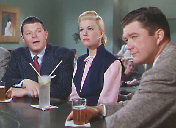 Jack Carson (left) and Dennis Morgan audition Doris Day. Image: veered.com