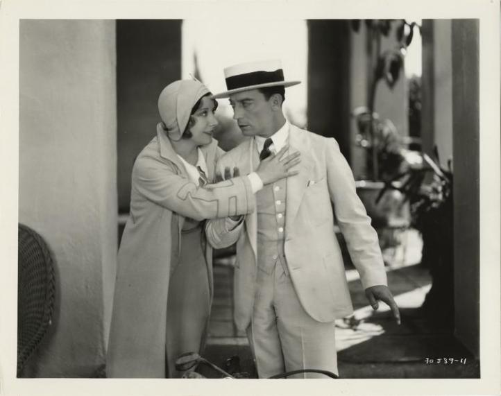 Charlotte Greenwood and Buster Keaton Photo, Lot 283 Image: invaluable.com