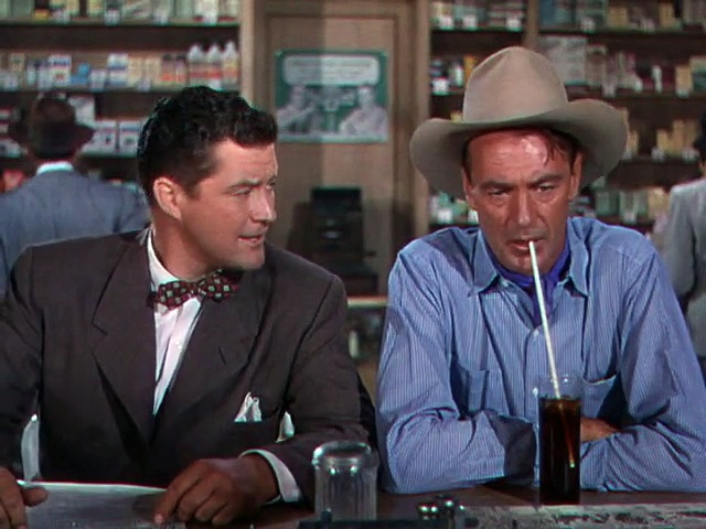 Morgan complains to Gary Cooper about Jack Carson. Image: Daily Motion