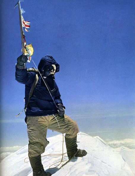Edmund Hillary on the summit of Mt Everest. Image: SB Nation
