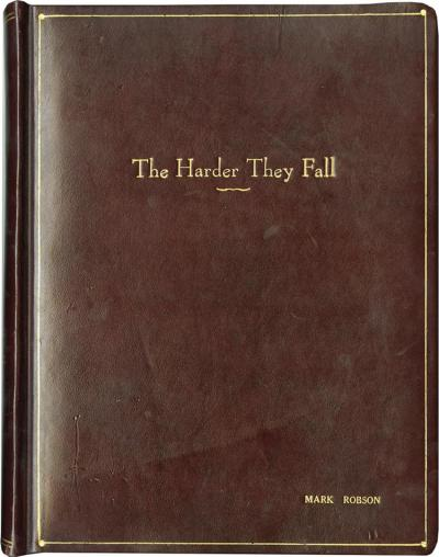 Lot 458: The Harder They Fall vintage original revised final script