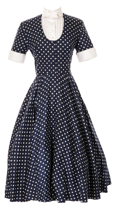 "Lot 951: Lucille Ball signature ""Lucy Ricardo"" polka dot dress"