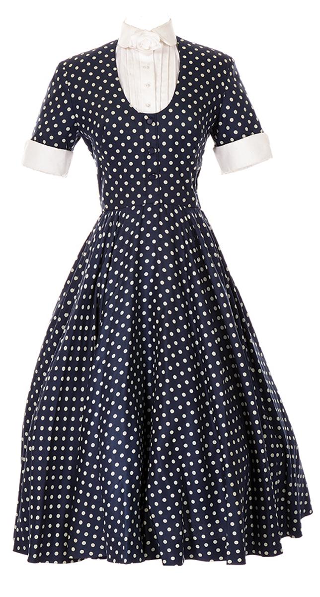 "Lot 951: Lucille Ball signature ""Lucy Ricardo"" polka dot dress"
