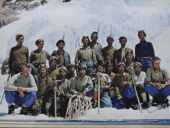 The team that first reached the summit of Everest. Image: Grey Fox