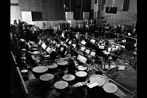 The MGM studio orchestra, ca 1951. Image: Behind the Stave
