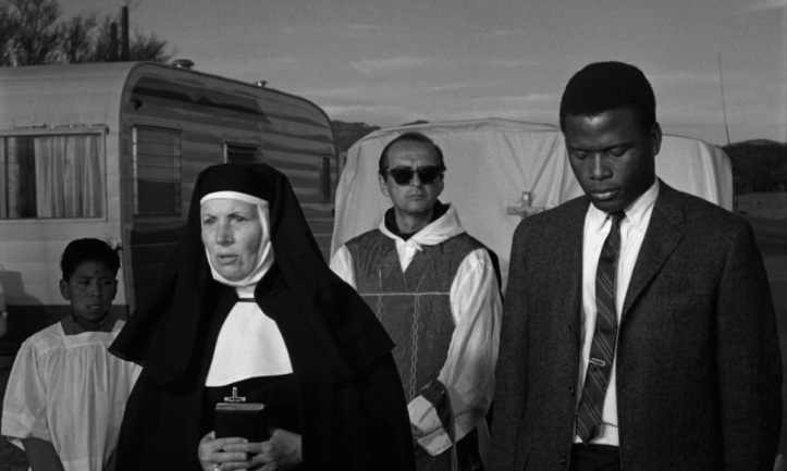Skala drags Poitier to church. Image: Film Net