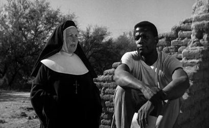 Lilia Skala tells Sidney Poitier how to build a church. Image: Dusted Off