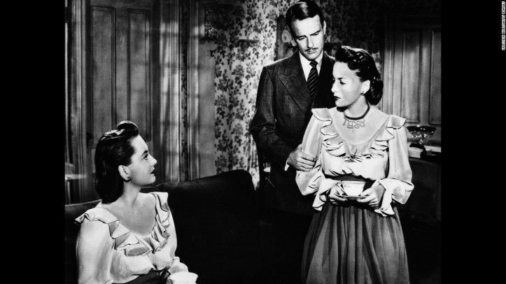 Olivia de Havilland played twins in The Dark Mirror (1946). Image: cnn.com