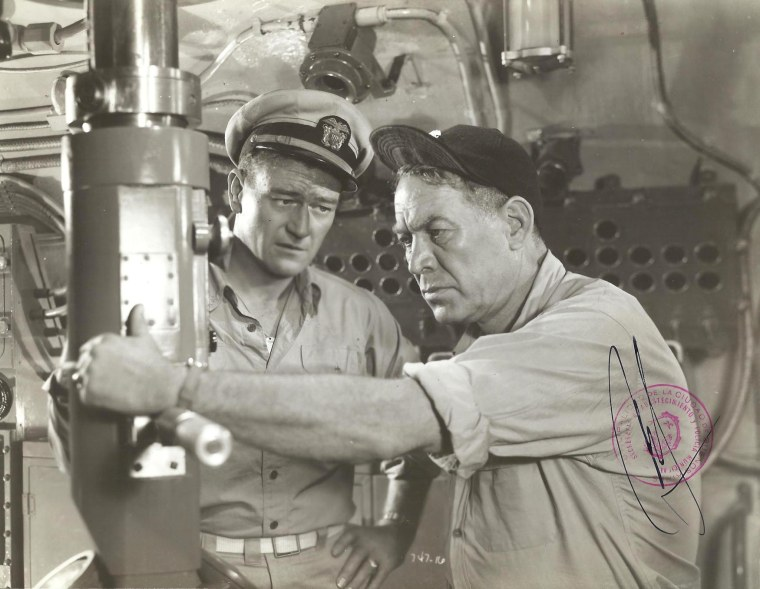 John Wayne and Ward Bond fight the Japanese and a lacklustre script. Image: Opera Rex