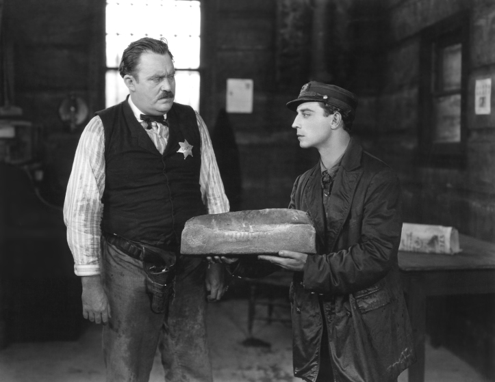 Buster Keaton has baked some bread. Image: Doctor Macro