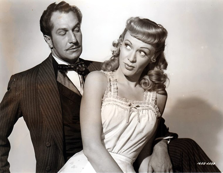Eve Arden and Vincent Price in Curtain Call at Cactus Creek (1950)